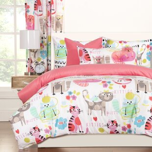 Crayola LLC Crayola Purrty Cat Reversible Duvet Cover Set