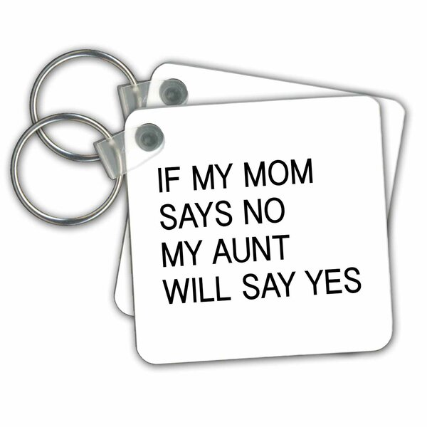 3drose If My Mom Says No My Aunt Will Say Yes Key Chain Wayfair Ca