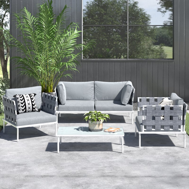 AllModern Reyna 5 Piece Sofa Seating Group with Cushions