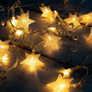 Tayla Fairy Stars and Beads 5 ft. 20-Light Novelty String Light