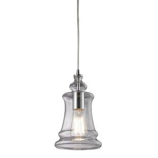 Topete 1-Light Bell Pendant by Brayden Studio