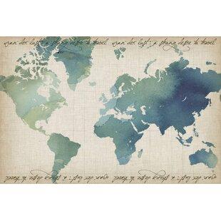 Watercolor World Map | Wayfair
