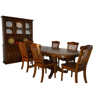 Neely Self Storage Leaves 9 Piece Extendable Solid Wood Dining Set