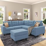 Dalante 82.7 Symmetrical Corner Sectional with Ottoman by Latitude Run®