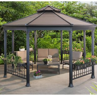 Sunjoy Sinclair 14 Ft. W x 13 Ft. D Metal Patio Gazebo