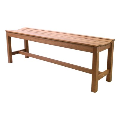 Beachcrest Home Tovar Wooden Picnic Bench