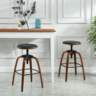Aust Adjustable Height Swivel Bar Stool (Set of 2)