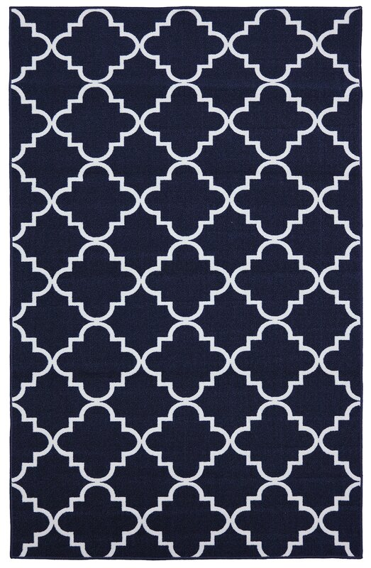 Charlton Home Hanley Navy Indoor Area Rug Reviews Wayfair