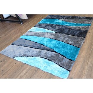 Find the perfect Hand-Tufted Gray/Blue Area Rug By Rug Factory Plus
