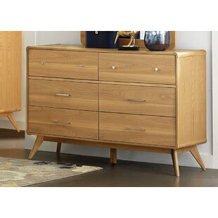 Fairford Wooden 6 Drawer Double Dresser