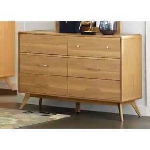 Fairford Wooden 6 Drawer Double Dresser
