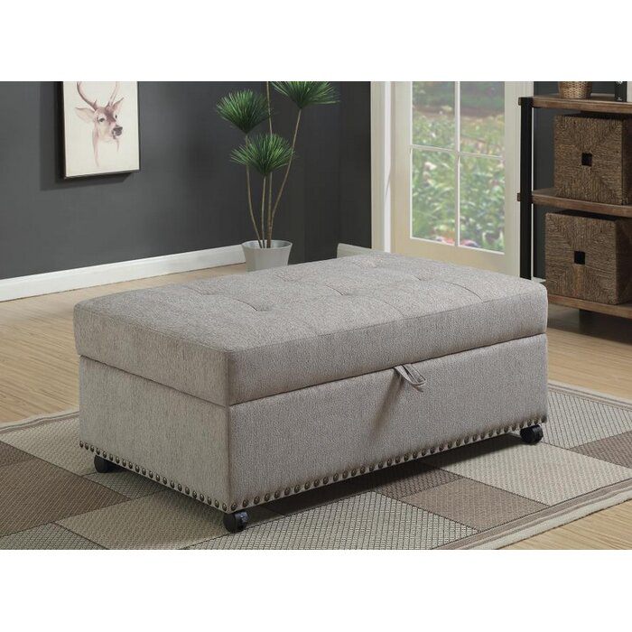 Stupendous Lelia Sleeper Tufted Storage Ottoman Ocoug Best Dining Table And Chair Ideas Images Ocougorg