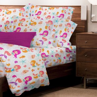 Nussbaum 4 Piece Juvenile Mermaids Sheet Set
