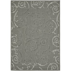 Short Anthracite / Light Grey Indoor/Outdoor Rug