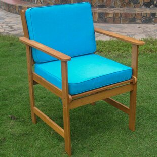 Sabbattus Gulf Port Patio Chair with Cushion (Set of 2)