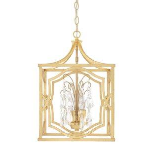 Willa Arlo Interiors Destrey Traditional 3-Light Foyer Pendant