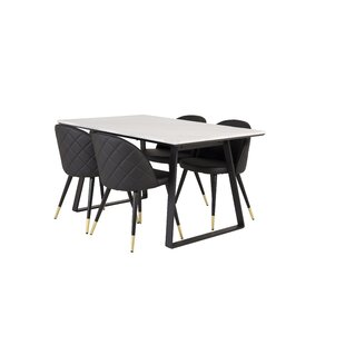 Sales Mabel Dining Set With 4 Chairs