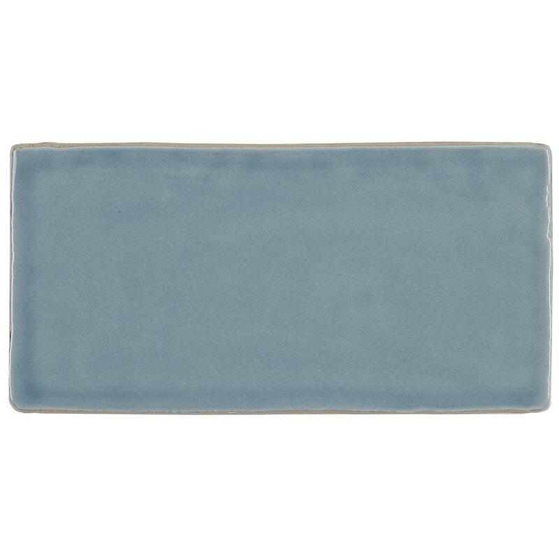 Daltile Artigiano 3 X 6 Ceramic Subway Tile In Blue Reviews
