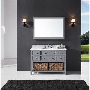 Truby 48 Single Bathroom Vanity Set with Mirror by Charlton Home