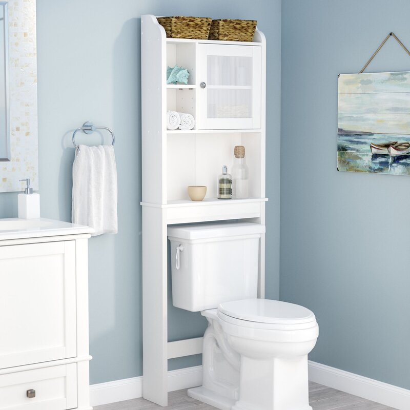 rebrilliant 235 w x 68 h over the toilet storage reviews wayfair
