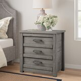 Romney 3 Drawers Nightstand by Three Posts