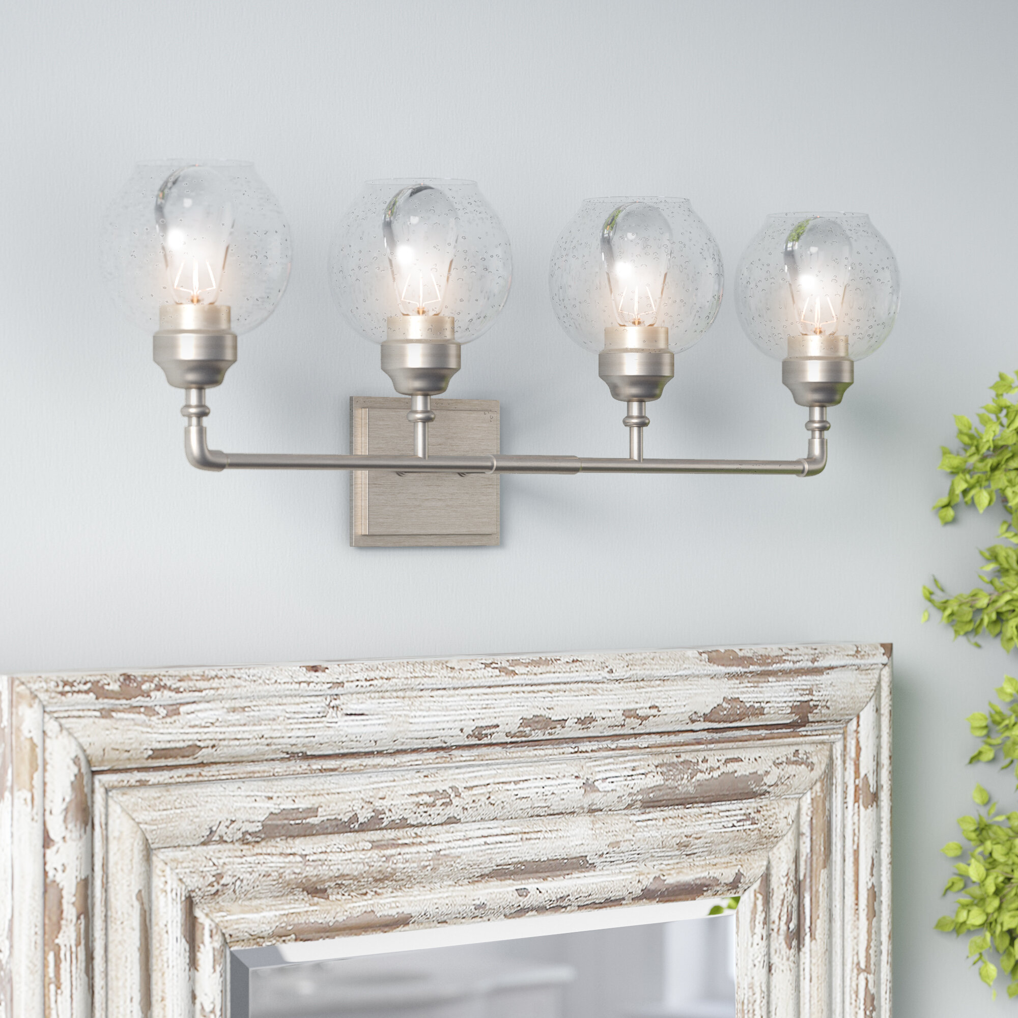 Laurel Foundry Modern Farmhouse Vickey 4 Light Vanity Light Reviews Wayfair