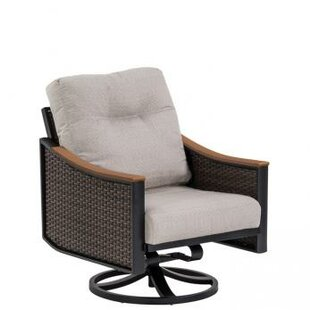 Brazo Woven Swivel Action Patio Chair with Cushion