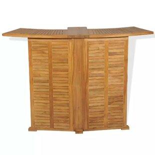 De Luca Folding Teak Bar Table By Sol 72 Outdoor