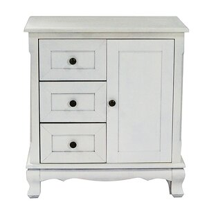 3 drawer and 1 door accent cabinet