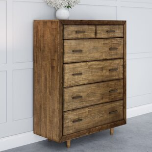 Glaze Retro Wood 6 Drawer Chest by George Oliver