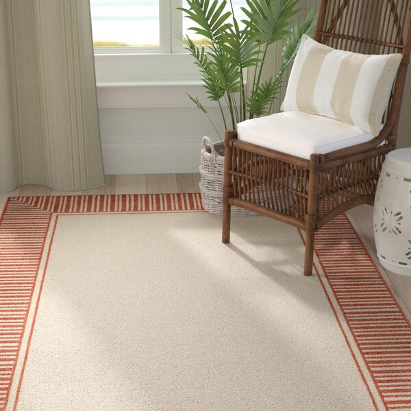 Bay Isle Home Oliver Burnt Orange Cream Indoor Outdoor Area Rug Reviews Wayfair