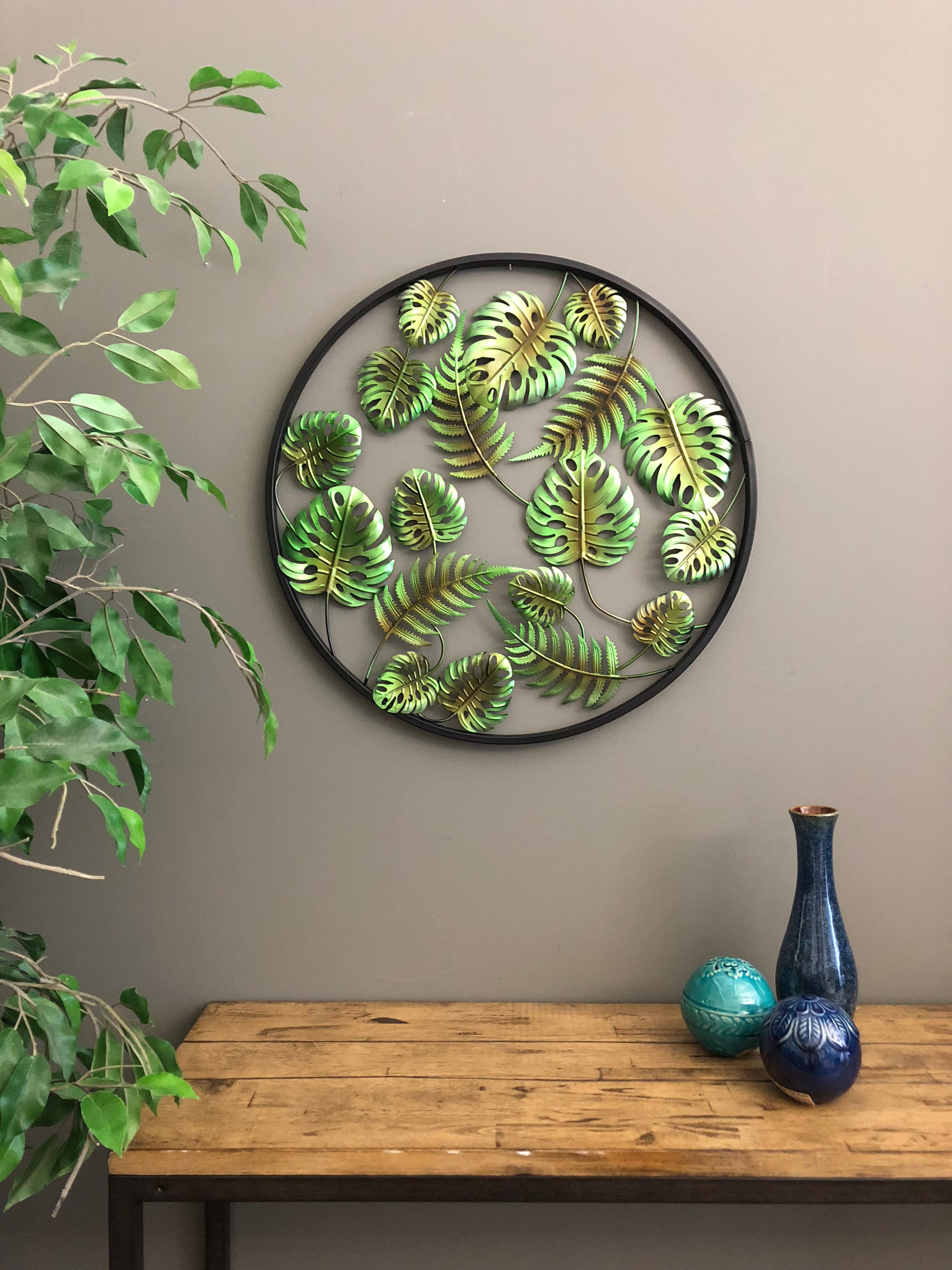 3 Dimensional Palm Leaves Tropical Wall