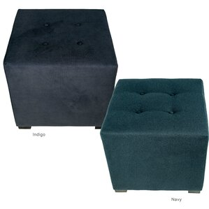 Merton Obsession Upholstered Cube Ottoman by MJL Furniture