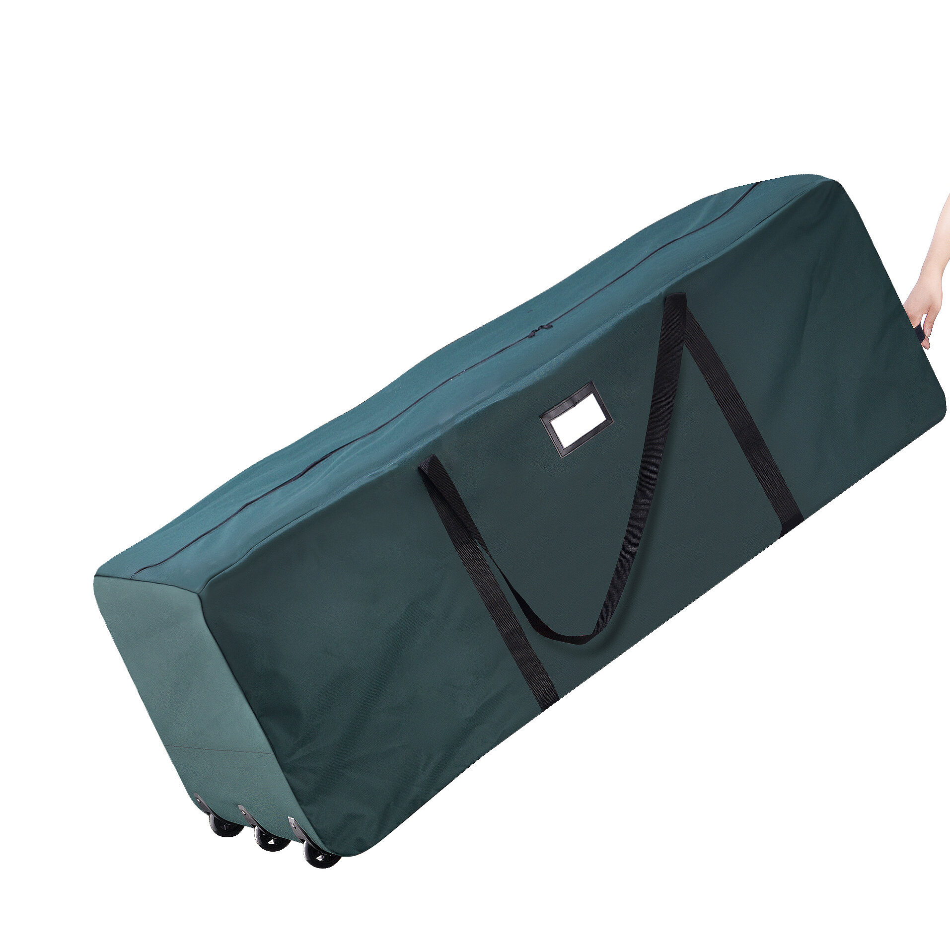 Premium Green Rolling Duffle Bag Christmas Tree Storage