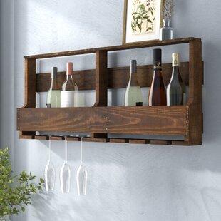 Gracie Oaks Blackburn 8 Bottle Wall Mounted Wine Rack