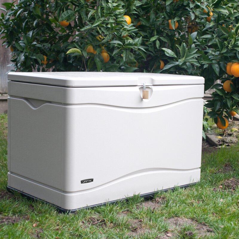 Outdoor Storage 80 Gallon Plastic Deck Box & Lifetime Outdoor Storage 80 Gallon Plastic Deck Box u0026 Reviews ... Aboutintivar.Com