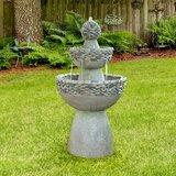 Gober Resin Zen 3 Level Fountain