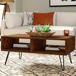 Union Rustic Whitaker Wood Top Coffee Table