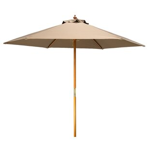 Khalil Wood Frame 8' Market Umbrella by Bay Isle Home Today Sale Only