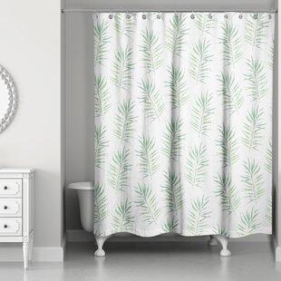 Risha Palm Leaf Single Shower Curtain
