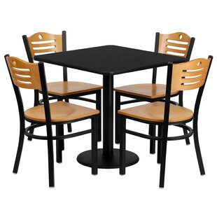 Sid 5 Piece Dining Set Red Barrel Studio