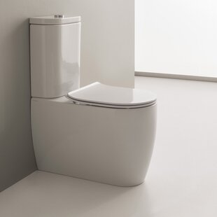 Scarabeo by Nameeks Moon 1.2 GPF Elongated Two-Piece Toilet