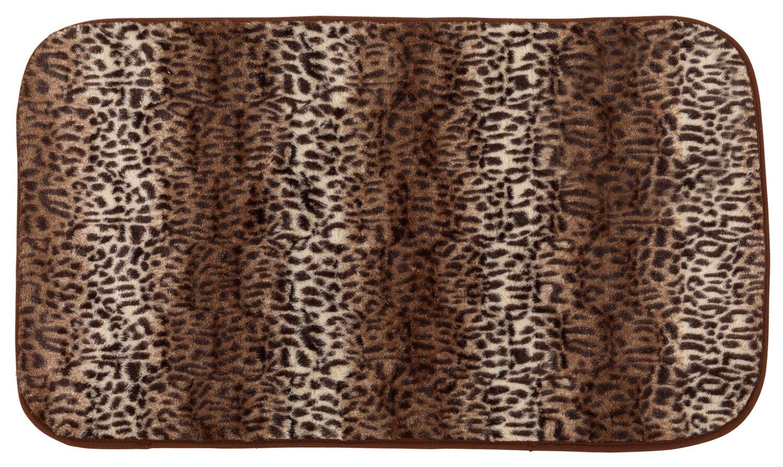 Cheetah Print Cushioned Bath Rug