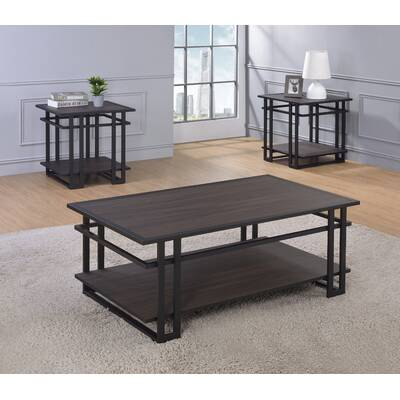 Union Rustic Tolan 3 Piece Coffee Table Set Reviews Wayfair