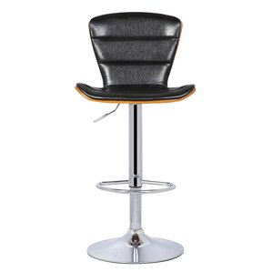 Trey Gaslift Adjustable Height Swivel Bar Stool by New Pacific Direct