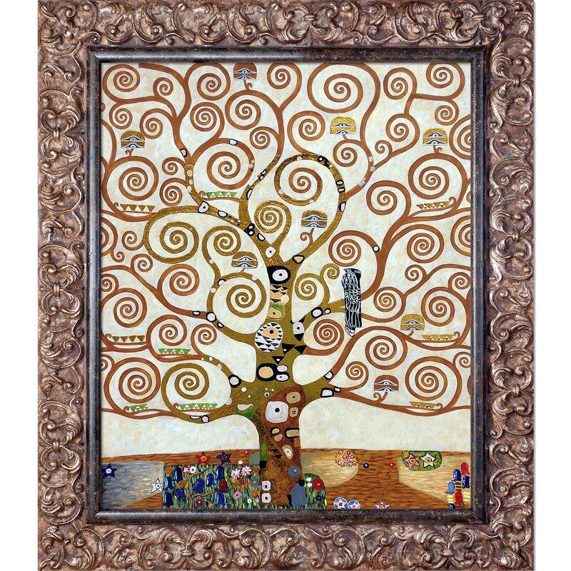 Tori Home Tree of Life, Metallic Embellished by Gustav Klimt Framed ...