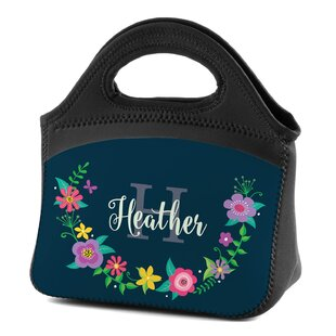 Floral Wreath Personalized Insulated Picnic Tote Bag