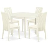 Sagar 5 Piece Solid Wood Breakfast Nook Dining Set by Winston Porter