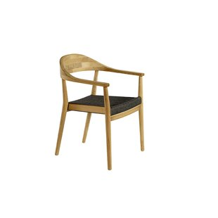 Skagen Stacking Teak Patio Dining Chair with Cushion