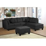 Alissha 105.1 Right Hand Facing Sectional with Ottoman by Latitude Run®